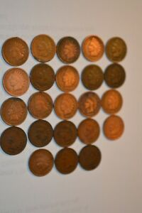 23  INDIAN HEAD CENT PENNY 1880 TO 1908 COLLECTION GOOD TO VG
