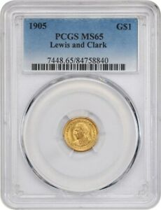 Click now to see the BUY IT NOW Price! 1905 LEWIS & CLARK G$1 PCGS MS65   KEY GOLD COMMEM ISSUE   KEY GOLD COMMEM ISSUE