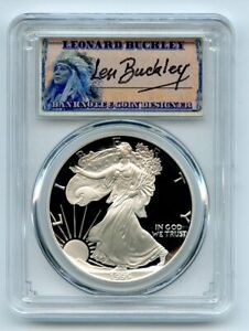 Click now to see the BUY IT NOW Price! 1995 P $1 PROOF AMERICAN SILVER EAGLE 1OZ PCGS PR70DCAM LEONARD BUCKLEY