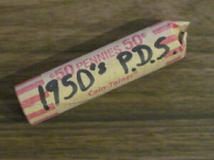 ROLLS OF 1950'S P D & S SMALL CENTS / PHILLY DENVER & SAN FRANCISCO MINTS
