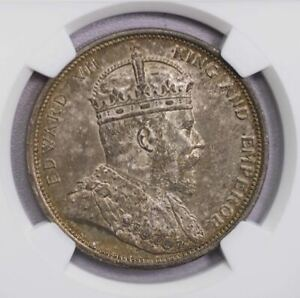Click now to see the BUY IT NOW Price! NGC MS64 1904B STRAITS ONE DOLLAR SILVER TONED TOP GRADE