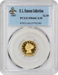 Click now to see the BUY IT NOW Price! 1907 2 1/2 PCGS PR 66 CAM EX: D.L. HANSEN   PRISTINE GEM PROOF