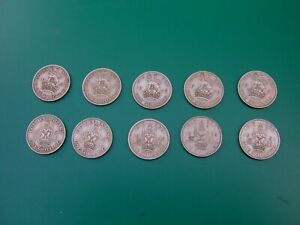 GB GEORGE VI.  SET OF SCOTTISH AND ENGLISH SHILLINGS 1947 1951. DATE RUN.