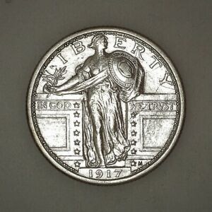 1917 TYPE 2 STANDING LIBERTY QUARTER US COIN EXCELLENT   CONDITION AS IMAGED