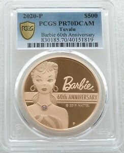 Click now to see the BUY IT NOW Price! 2019 TUVALU BARBIE ARGYLE PINK DIAMOND $500 DOLLAR GOLD PROOF COIN PCGS PR70 DC