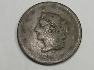 1839 US LARGE CENT COIN