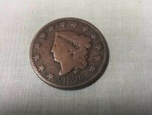 1828 UNITED STATES CORONET LARGE CENT W/FULL LIBERTY AND DATE FREE POST