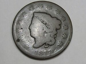 1819 US CORONET HEAD LARGE CENT COIN  SMALL DATE .  27