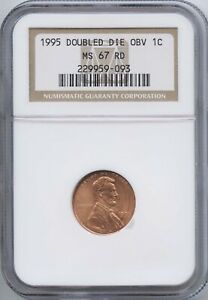 1995 1 DOUBLED DIE OBV NGC MS 67 RED