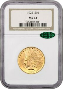 1926 $10 NGC/CAC MS63   LOVELY TYPE COIN   INDIAN EAGLE   GOLD COIN