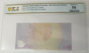 Click now to see the BUY IT NOW Price! AUSTRALIA 1992 93 . $5 DOLLAR BANKNOTE . SPECIMEN . WITHOUT IMPRINT . PCGS AU58