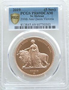 Click now to see the BUY IT NOW Price! 2019 ST HELENA UNA AND THE LION 5 POUND SOVEREIGN GOLD PROOF COIN PCGS PR69 DC