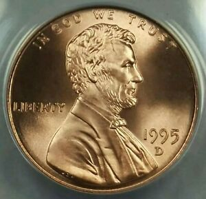 Click now to see the BUY IT NOW Price! 1995 D LINCOLN CENT ANACS MS69 POP TOP 1 VALUE 4 150
