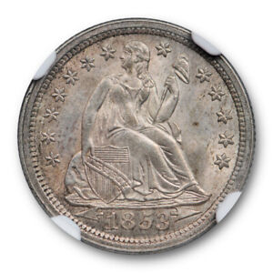 Click now to see the BUY IT NOW Price! 1853 10C WITH ARROWS SEATED LIBERTY DIME NGC MS 64 UNCIRCULATED SHARP