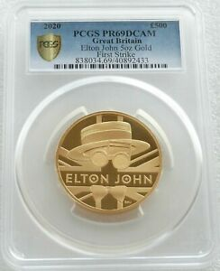 Click now to see the BUY IT NOW Price! 2020 MUSIC LEGENDS ELTON JOHN 500 GOLD PROOF 5OZ COIN PCGS PR69 DC FIRST STRIKE