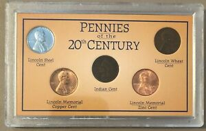 PENNIES OF THE 20TH CENTURY INDIAN HEAD LINCOLN CENT LOT COLLECTION