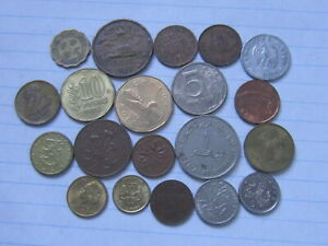 LOT OF 20 WORLD COINS 203  FREE COMBINED SHIPPING