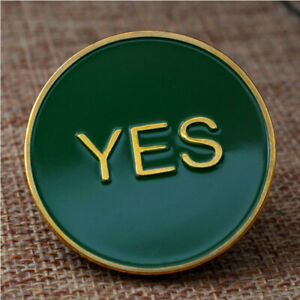 YES/NO COMMEMORATIVE COIN DECISION MAKING CRAFTS GAME COIN CHALLENGE COIN