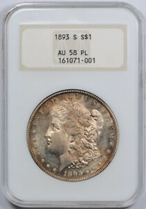Click now to see the BUY IT NOW Price! 1893 S $1 MORGAN DOLLAR NGC AU 58 PL ABOUT UNCIRCULATED PROOF LIKE THE KEY DATE