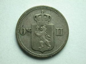 NORWAY 1875 10 ORE SILVER