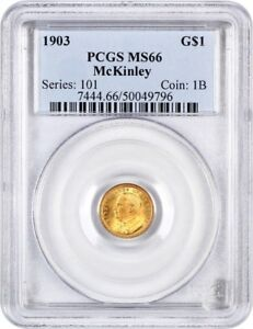 1903 MCKINLEY G$1 PCGS MS66   CLASSIC COMMEMORATIVE   GOLD COIN