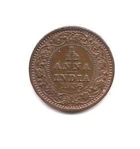 1936 BRITISH INDIA 1/12 ANNA    RED/BROWN BEAUTY