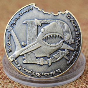 SHARK RELIEF METAL COMMEMORATIVE COIN COPPER COIN CUSTOM CRAFTS COIN COLLECTION