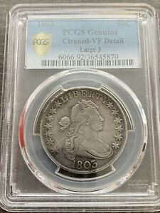 M13821  1803 LARGE 3 BUST HALF DOLLAR PCGS VF DETAILS