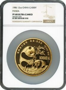 Click now to see the BUY IT NOW Price! 1986 1000Y NGC PR 68 PANDA