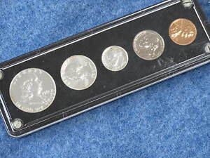 1961 US SILVER PROOF SET IN LUCITE B9233