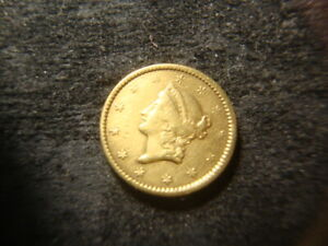 1849 VF XF  XF GOLD  TY 1 TYPE ONE GOLD $1.00 DOLLAR NICE COIN T2X