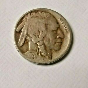 1928 BUFFALO NICKEL /NICE CIRCULATED COND./ HARDER DATE/GREAT COLLECTOR'S COIN