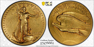 1907 $20 HIGH RELIEF SAINT GAUDENS GOLD DOUBLE EAGLE PCGS XF 40 EXTRA FINE NI