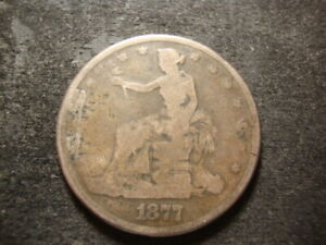 1877 S VG  DETAILS TRADE LIBERTY DOLLAR DECENT LOOKING COIN T2X