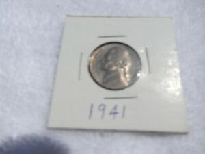 1941 JEFFERSON NICKEL CIRCULATED   PERFECT FOR COIN BOOKS