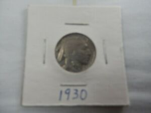 1930 BUFFALO NICKEL CIRCULATED   PERFECT FOR COIN BOOKS