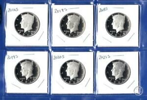 2016 S THROUGH 2021 S CLAD PROOF KENNEDY HALF DOLLARS SET   6 COINS