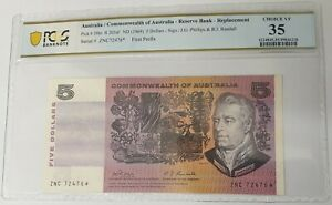 Click now to see the BUY IT NOW Price! AUSTRALIA 1969 . FIVE DOLLARS . COLLECTORS STARNOTE . REPLACEMENT . PCGS GRADED