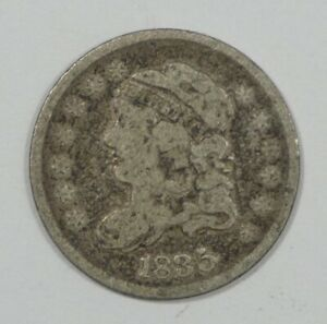 1835 CAPPED BUST SILVER HALF DIME GOOD 5C