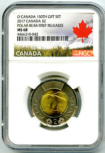 Click now to see the BUY IT NOW Price! 2017 O CANADA $2 POLAR BEAR TOONIE NGC MS68 FIRST RELEASES TOP POP ONLY 1