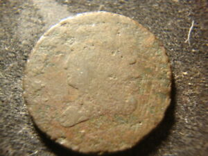 1820'S DATED CLASSIC HEAD HALF CENT ROUGH SURFACES BB