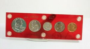 Click now to see the BUY IT NOW Price! 1956 P US MINT PROOF SET 5 COINS RED ACRYLIC CAPITAL HOLDER