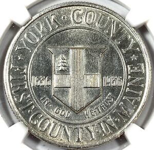 1936 UNITED STATES YORK SILVER COMMEMORATIVE HALF DOLLAR   NGC UNC DETAILS