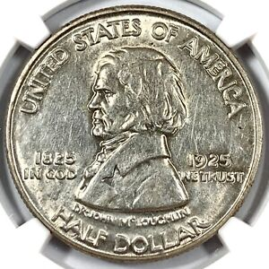 1925 UNITED STATES FORT VANCOUVER SILVER COMMEMORATIVE HALF DOLLAR   NGC AU58