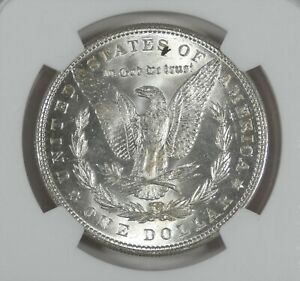 1887 MORGAN SILVER DOLLAR NGC MS 63 RETAINED LAMINATION ERROR 2ND