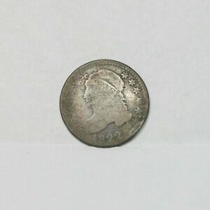 KEY DATE  1822 CAPPED BUST SILVER DIME
