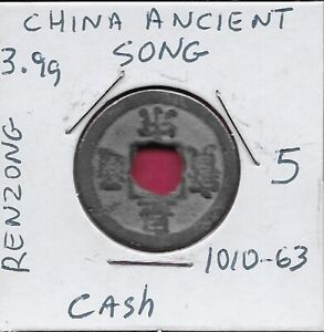 CHINA ANCIENT SONG DYNASTY EMPEROR RENZONG CASH COINS 1010 1063 CE  HUANG SONG Y
