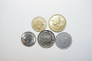 WORLD COINS GREAT GP. FROM ALLOVER LOT OF 5 COINS W/ UNC OR HIGH GRADE VALUE B2