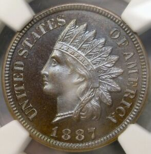 Click now to see the BUY IT NOW Price! 1887 INDIAN HEAD CENT/PENNY INSANERARITY POP 1/0 FINEST KNOWN NGC PF 66 BN CAMEO