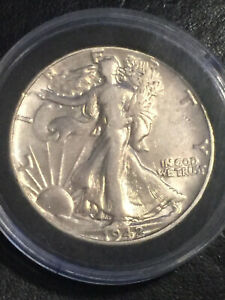 1942 WALKING SILVER LIBERTY HALF DOLLAR. BEAUTIFUL CLEANED COIN ONLY $9.95